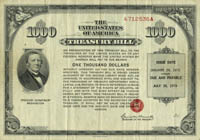 United States $1000 Treasury Bill - SOLD