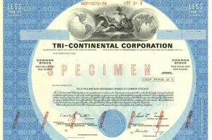 Tri - Continental Corporation - SOLD