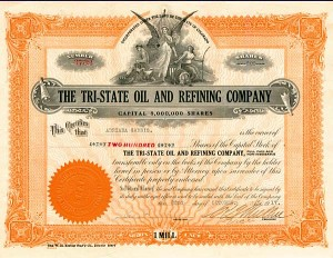 Tri-State Oil & Refining Company - Stock Certificate