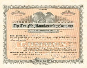 Try=Me Manufacturing Company - SOLD