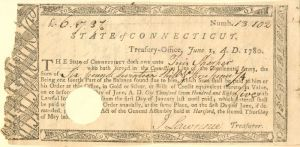 Connecticut Line Note Signed by African American Revolutionary War Soldier Tuis Sharper