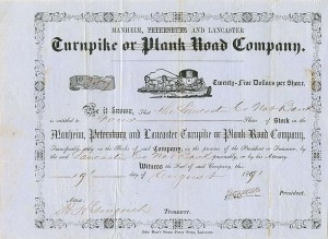 Manheim, Petersburg and Lancaster Turnpike or Plank Road Company