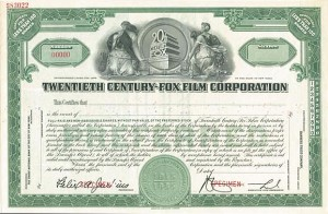 Twentieth Century-Fox Film Corporation - SOLD