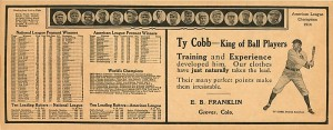 Ty Cobb Scorecard - SOLD