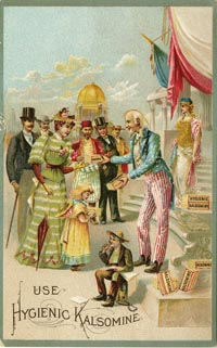 Uncle Sam Trade Card - Hygenic Kalsomine