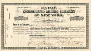 Union Consolidated Mining Company of New York - SOLD