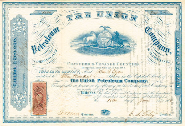 Union Petroleum Company - Stock Certificate - SOLD