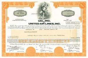 UAL, Inc and United Air Lines Inc $3,864,000 Bond