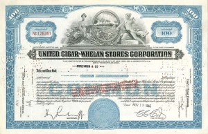 United Cigar-Whelan Stores Corporation - SOLD