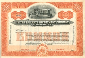 United Railways Investment Company of San Francisco - SOLD