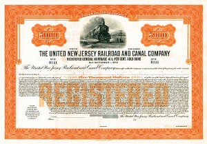 United New Jersey Railroad & Canal Company - Bond