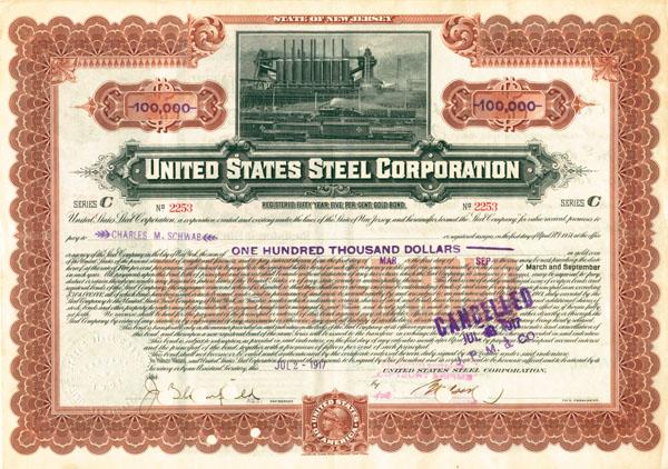 Charles M. Schwab - U.S. Steel - Bond - SOLD