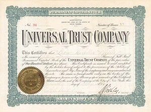 Universal Trust Company - SOLD