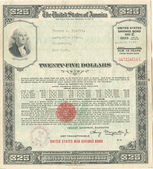 WW II U. S. War Savings Bond