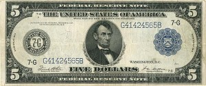 Federal Reserve Note- SOLD