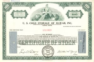 U.S Cold Storage Of Hawaii, Inc