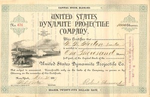 United States Dynamite Projectile Company - SOLD