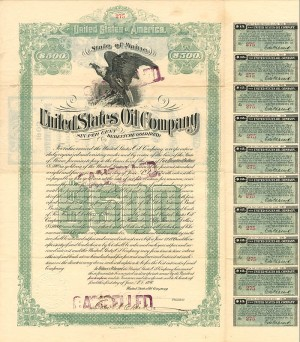 United States Oil Company - $500 Bond