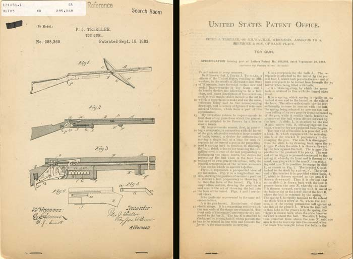 Patent for Toy Gun