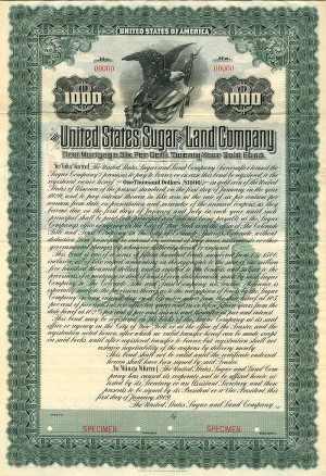 United States Sugar and Land Company - SOLD