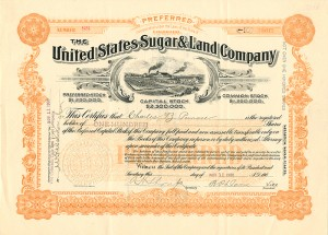 United States Sugar & Land Company - SOLD