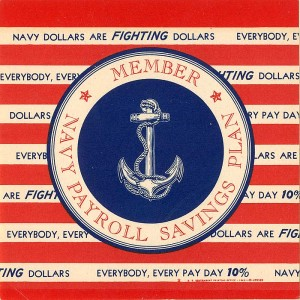 Navy Payroll Savings Plan Window Label
