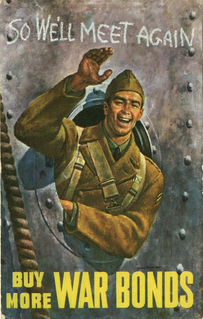 """Buy More War Bonds"" Postcard - SOLD"