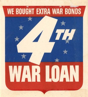 4th War Loan Window Label