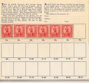 10 Cent War Savings Bonds Album