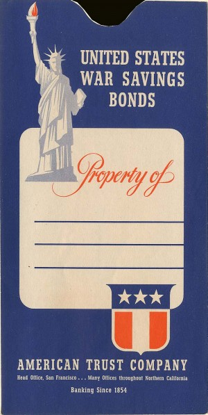 United States War Savings Bonds Envelope