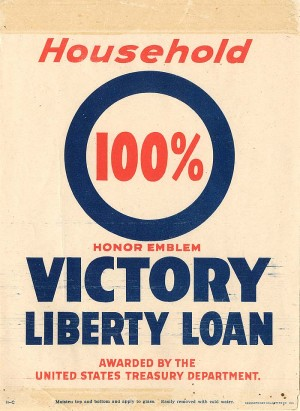 """Honor Emblem Victory Liberty Loan"" Window Label"