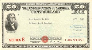 $50 Series E United States Savings Bond