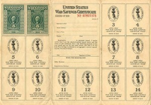 United States War-Savings Certificate Album - SOLD