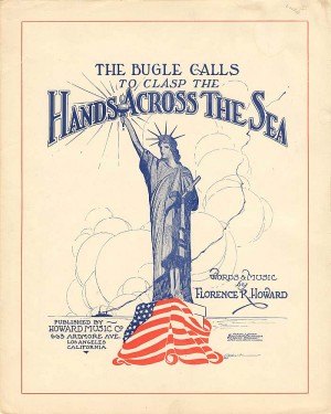 Music Sheet for The Bugle Calls to Clasp the Hands Across the Sea