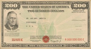 Poster for War Savings Bond Series E - SOLD