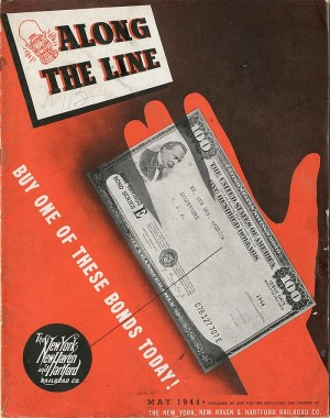 "Along The Line publication advertising ""War Savings"""