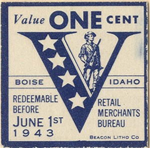 One Cent Victory Stamp
