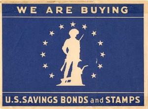 US Savings Bonds and Stamps Window Label