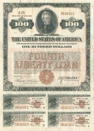 1918 Fourth Liberty Loan - SOLD