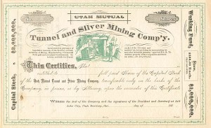 Utah Mutual Tunnel and Silver Mining Co. - SOLD