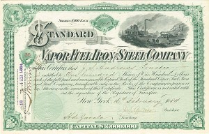 Standard Vapor Fuel Iron and Steel Company - SOLD