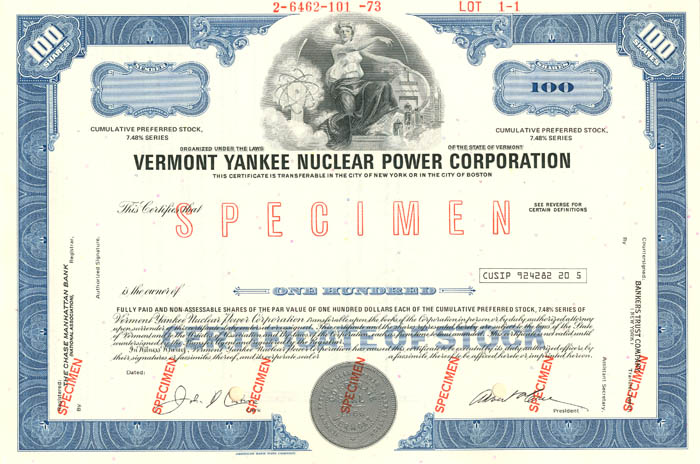 Vermont Yankee Nuclear Power Corporation - SOLD