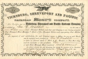 Vicksburg, Shreveport and Pacific Railroad Company - SOLD