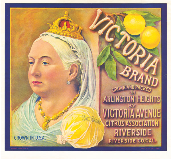 Fruit Crate Label - Victoria Brand