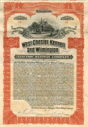 West Chester, Kennett and Wilmington Electric Railway Company - SOLD