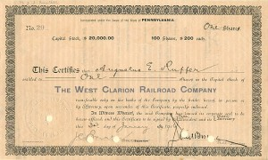 West Clarion Railroad Company - SOLD