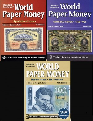 Set of 3 World Paper Money Books