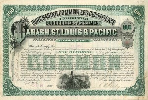 Wabash, St. Louis & Pacific Railway Company - SOLD