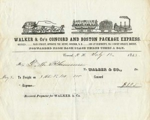 Walker & Co's Concord and Boston Package Express - SOLD