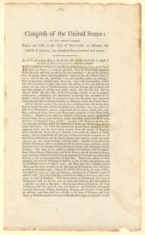 Congress of the United States Document - SOLD